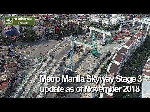 Metro Manila Skyway Stage 3 update as of November 2018
