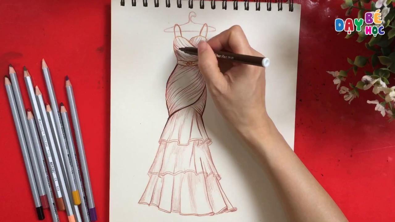 Tập thiết kế thời trang   Hướng dẫn vẽ váy chiffon sang chảnh   Dạy bé học   Khái quát những nội dung về vẽ dáng người mẫu trong thiết kế thời trang chi tiết