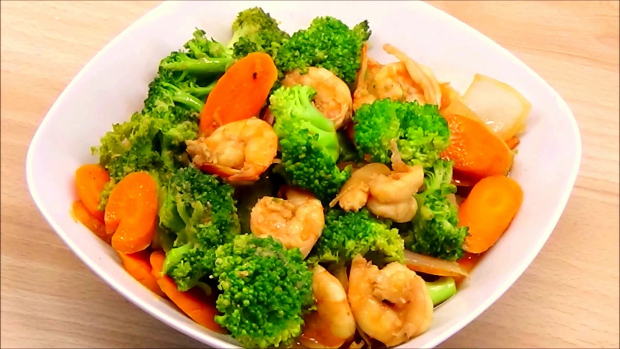 Tumis Brokoli Dan Udang Broccoli And Shrimp Stir Fry Youtube