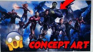 Avengers 4 Leaked Concept Art - Professor Hulk Confirmed? Captian Marvel Red Suit!