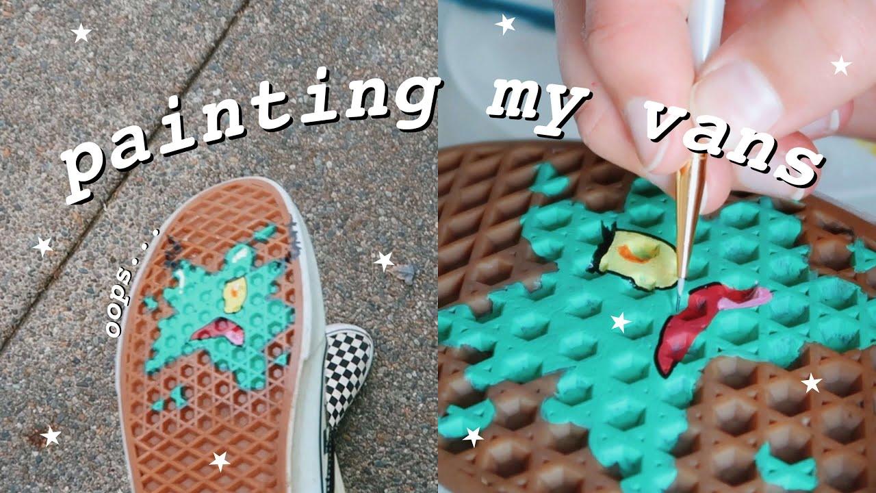 Painting my vans: Plankton - YouTube