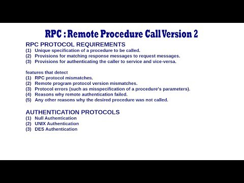Remote Procedure Call Version 2 RPCv2