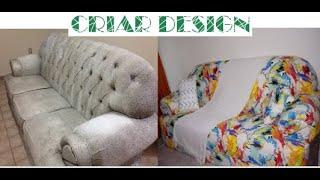 Reformando meu sofá com R$150