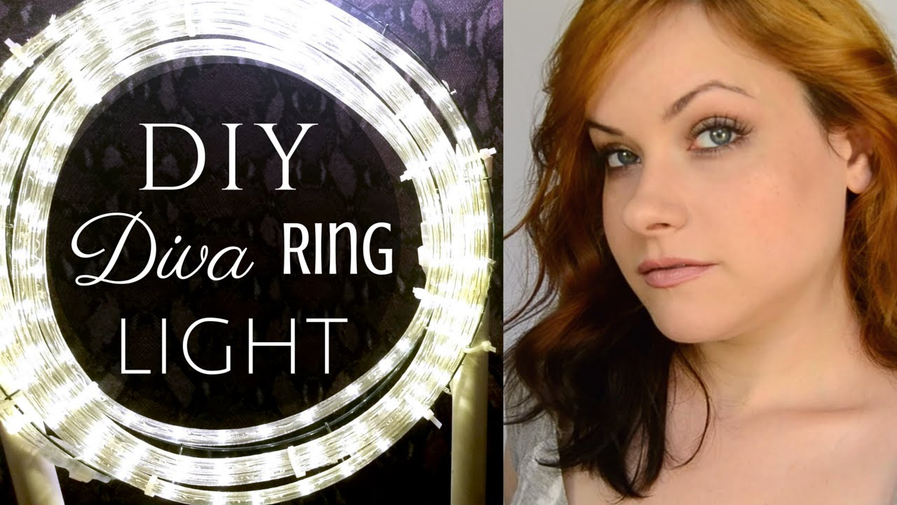 How To Easy Amp Cheap Diva Ring Light Diy Tutorial