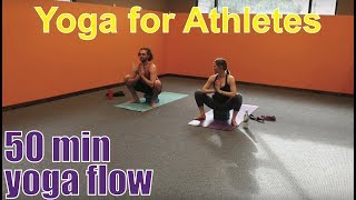 50 Minute Yoga Class Yoga For Athletes Youtube