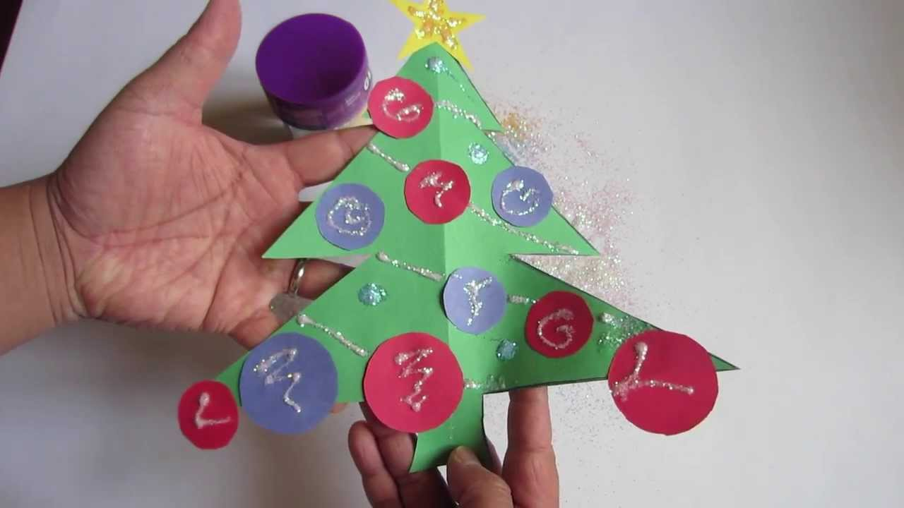 How To Make A Paper Christmas Tree! Construction Paper