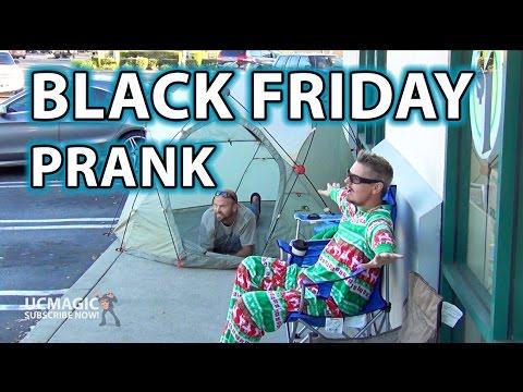 BLACK FRIDAY PRANK!! (Waiting at gas station and dollar store!!) lol