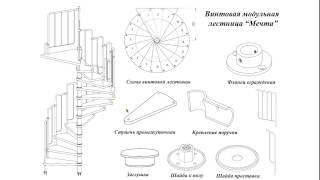 Винтовая лестница состоящая из модулей фирмы