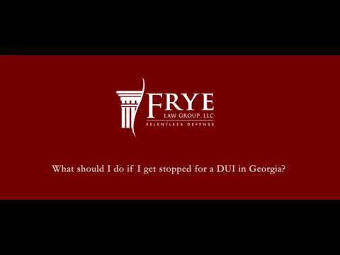 What Should I Do If I Get Stopped For A DUI In Georgia? | Marietta Criminal Defense Attorney
