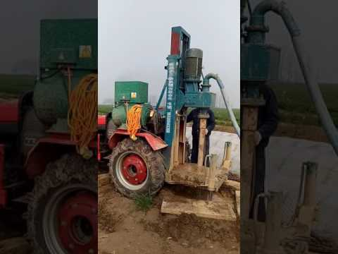 Tractor water well drilling rig AKL-120T working site