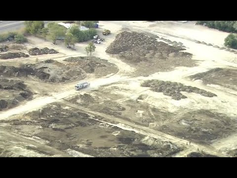 Manure pile at former North Las Vegas pig farm catches fire