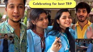Indian Idol Behind the scenes mati - celebration for Highest TRP Show - Pawandeep - Nachiket lele -