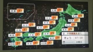 天気予報を読む市川紗椰さん.