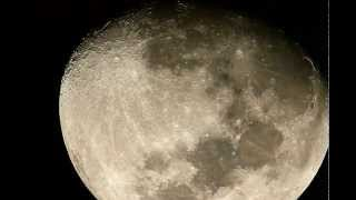The Moon as viewed from the Earth - 6 inch reflector telescope