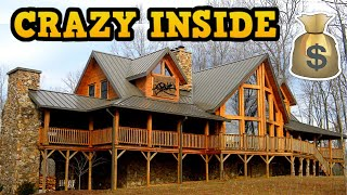 WEALTHY FAMILIES ABANDONED LOG CABIN MANSION (EXOTIC ANIMALS)