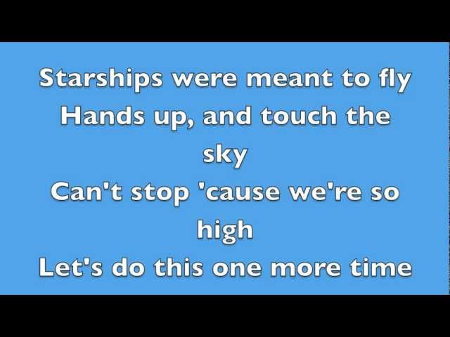 Starships - Nicki Minaj - Lyrics
