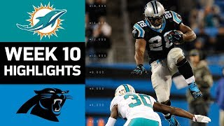 Dolphins vs. Panthers | NFL Week 10 Game Highlights 2017 Video
