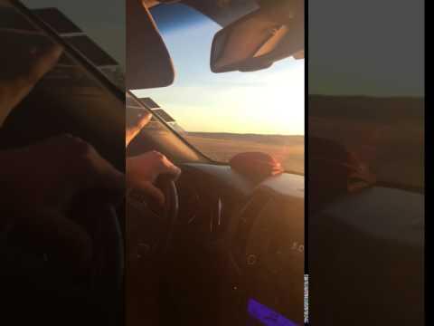 Blinding sun on drive from Ulaanbaatar to Dalanzadgad, Mongolia