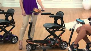 EV Rider Folding Mobility Scooter with Arm Rests with Kerstin Lindquist