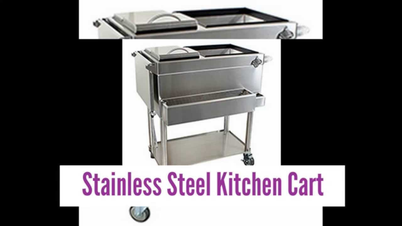 Images For Stainless Steel Kitchen Cart Youtube