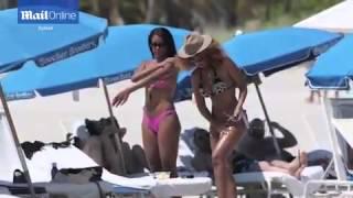 Claudia Jordan shows off toned body in...