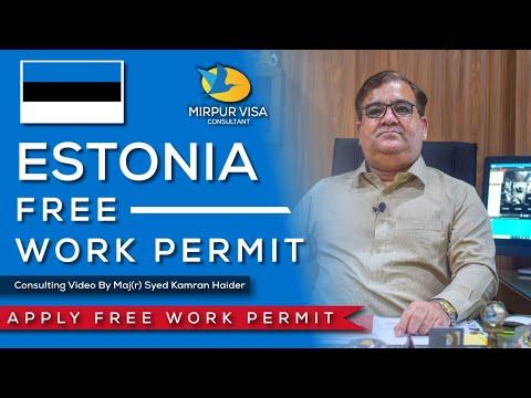 Free work permit 2020 || Estonia free work permit