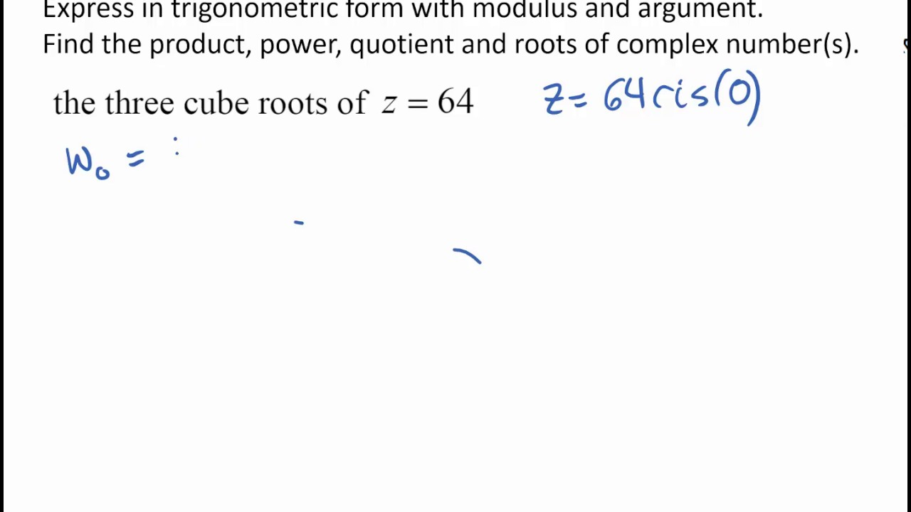 Cube root of Complex - YouTube