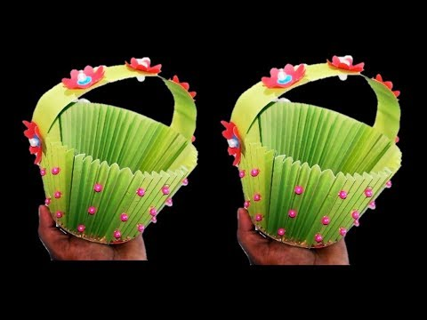 DIY Paper Basket How to Make Easy Accordion Paper Basket  DIY Paper Basket কাগজের বালতি