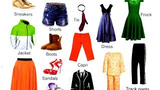Enriched with stock of word  Clothes Vocabulary in English to bengali  Clothes Names with Pictures