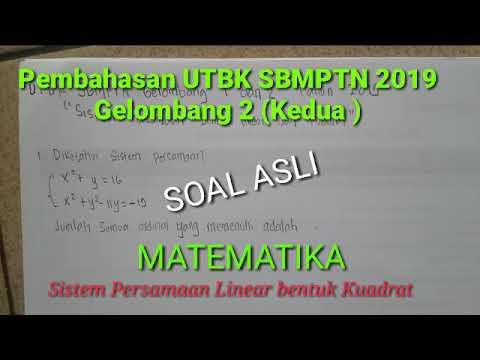 Soal Gelombang 2 UTBK SBMPTN 2019
