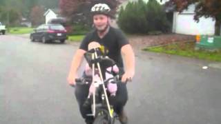 Video Olivia's First WeeRide Kangaroo cycle w/ Daddy Mike download MP3, 3GP, MP4, WEBM, AVI, FLV Agustus 2018
