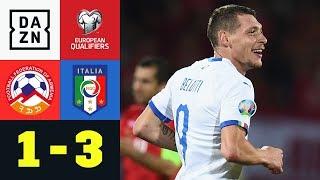 Italien müht sich zum Sieg, Andrea Belotti trifft doppelt: Armenien - Italien 1:3 | EM-Quali | DAZN