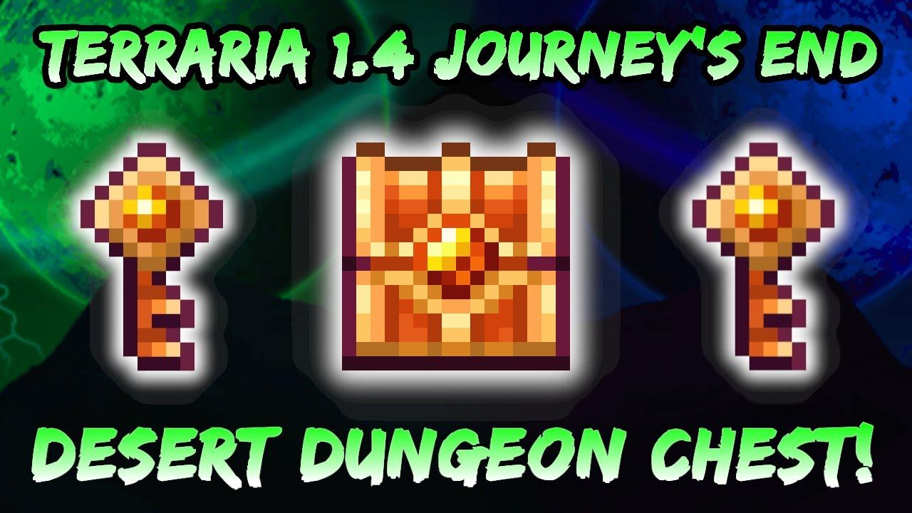 Download NEW Desert Dungeon Chest! Terraria Journey's End 1.4 Update | Desert Tiger Staff Summoner Weapon