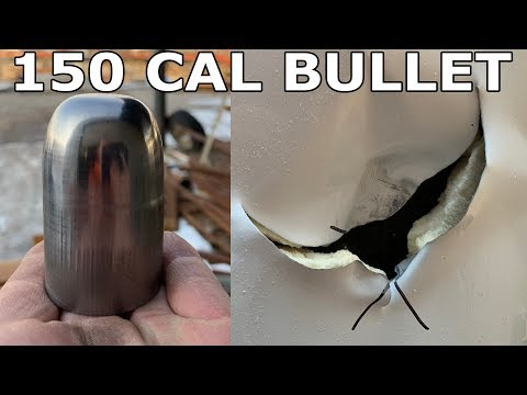 150 Caliber Round vs Water Heater - Waterjet Channel
