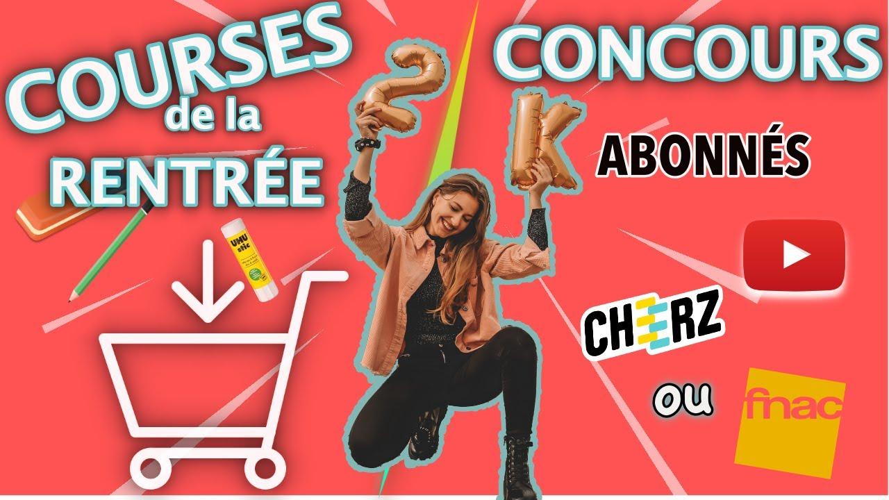 GROS CONCOURS 2K ABONNÉS ET COURSES DE RENTRÉE