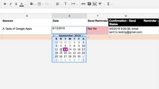 Tutorial - Automatically send email reminders from Google Sheets with formMule