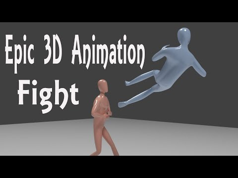 Blender - Sickman fight - Animation movies (with tutorial)
