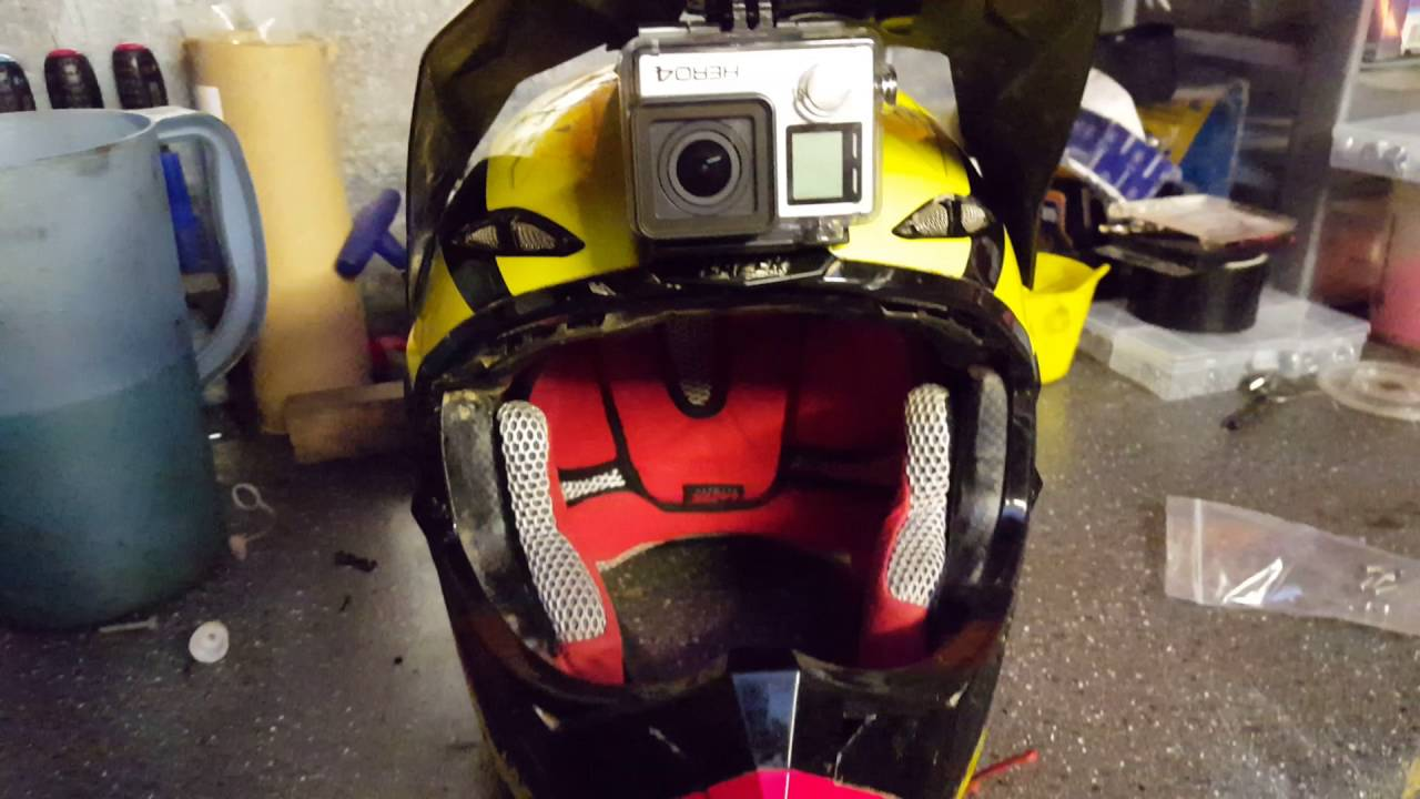 mounting gopro under helmet peak motocross enduro. Black Bedroom Furniture Sets. Home Design Ideas