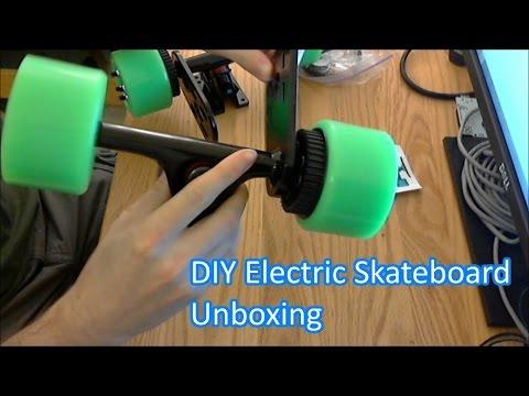 diy electric skateboard kit unboxing youtube. Black Bedroom Furniture Sets. Home Design Ideas