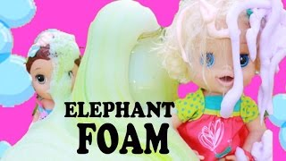 DIY Elephant's Toothpaste ❤ BABY ALIVE Mr. Bubbles Bath Foam ❤ How To Make Cool Science Experiment