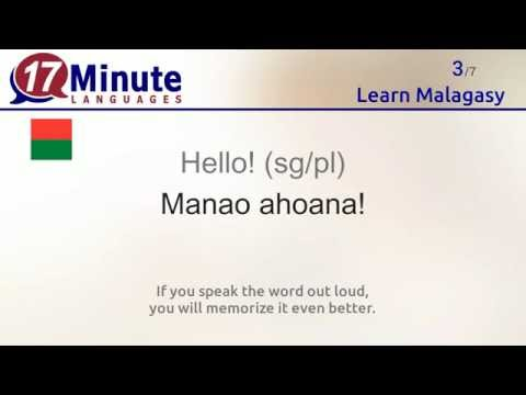 Learn Malagasy (free language course video)
