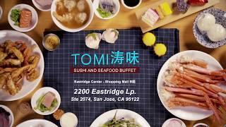 【灣區美食俱樂部】壽司海鮮自助餐:濤味 Tomi Sushi u0026 Seafood Buffet 聖荷西壽司和海鮮自助餐