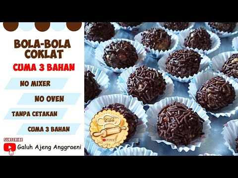 RESEP SIMPLE BOLA-BOLA COKLAT BISKUIT MARIE REGAL  NO MIXER, NO CETAKAN,  NO OVEN CUMA 9 BAHAN