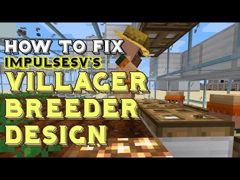 My TWEAKS To ImpulseSV's EASY INFINITE VILLAGER BREEDER For Minecraft 1.15+