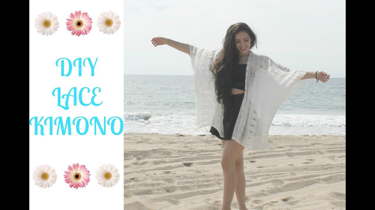 DIY Lace Kimono - YouTube