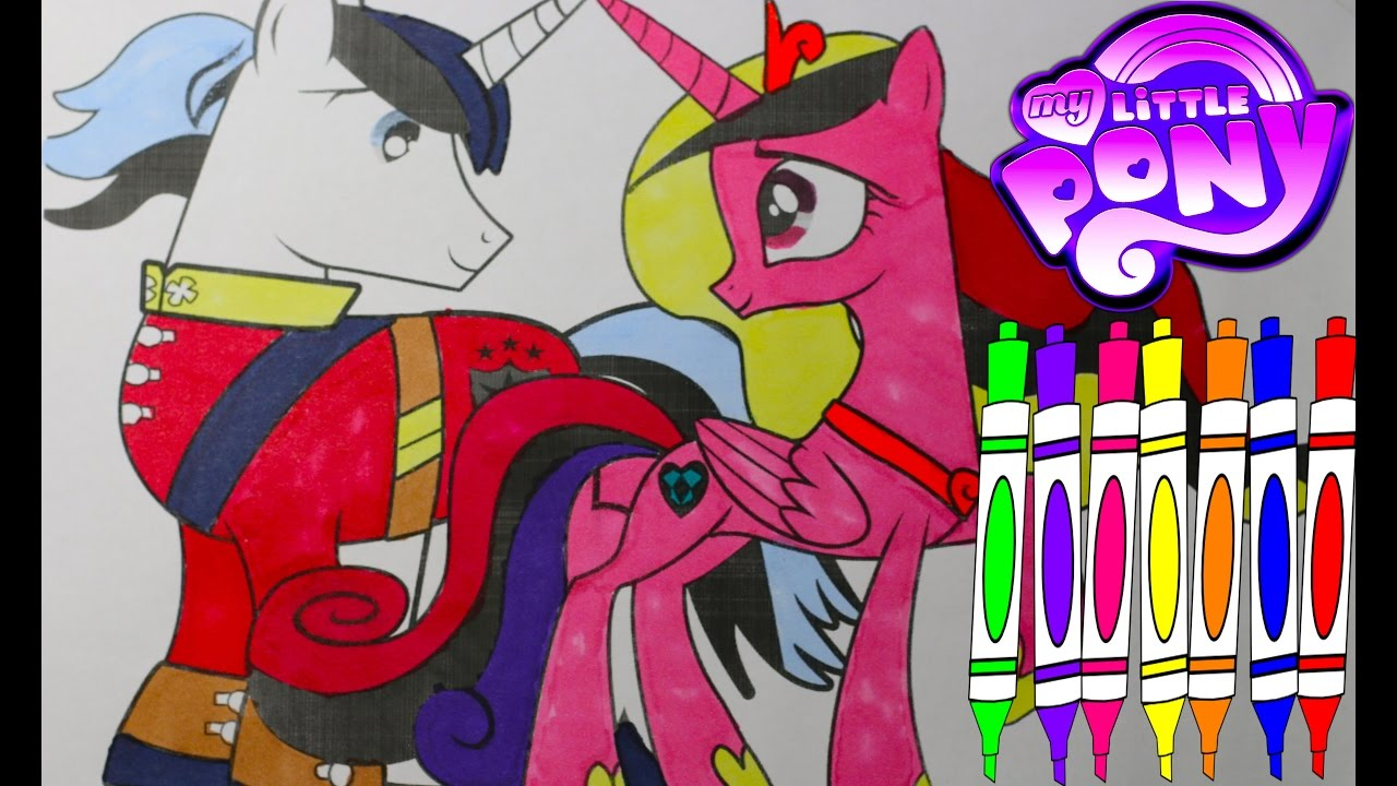 Princess kayden coloring pages - My Little Pony Coloring Book Princess Cadance Shining Armor Mlp Art Coloring Videos For Kids Youtube