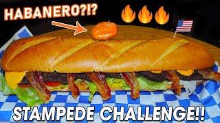17-inch Habanero Burger Challenge in Texas!!