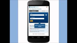 How to use the Live Departure Boards on the National Rail Enquiries Mobile Site