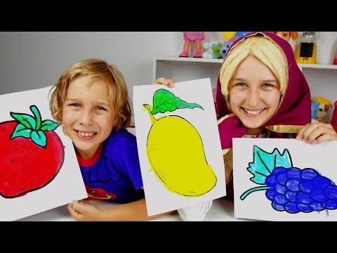 Education activities video for kids, children and toddlers with Paints and Colors Songs