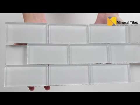 Subway Glass Tile Simplicity White 2x4 - 120KEPWG24